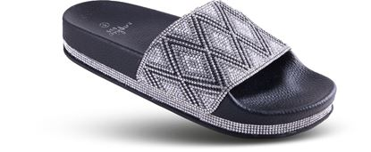 Picture of DIamond Bling Slide - 6-10 Size Run A (9 Pack) - Black