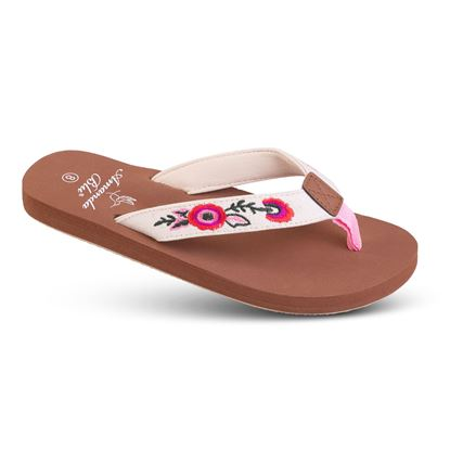 Picture of Embroidered Soft-Step Sandal - 6-10 Size Run A (9 Pack) - Pink Floral