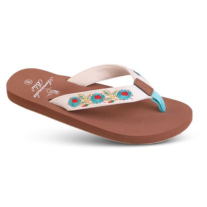Picture of Embroidered Soft-Step Sandal - 6-10 Size Run A (9 Pack) - Turquoise Floral