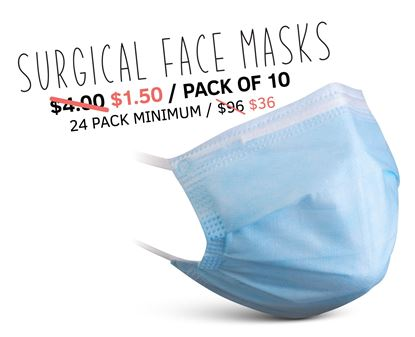 Picture of 3-Ply Personal Use Face Mask Non-Medical (pack of 10)