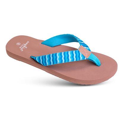 Picture of Aqua Waves - Printed Soft-Step Sandal