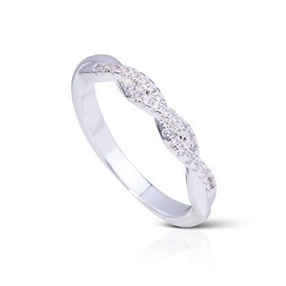 Picture of Braided Ring - Size 8 - Silver
