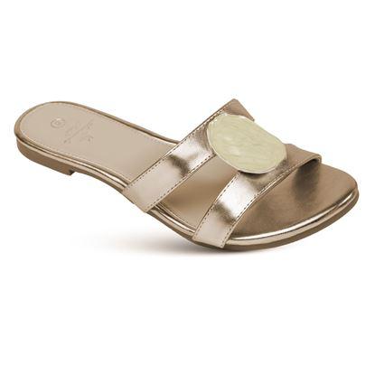 Picture of Amber - Slice Slide Sandal - Champagne