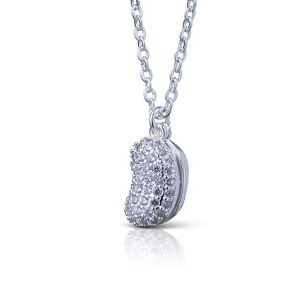 Picture of 2 Peas in a Pod Necklace - SIlver